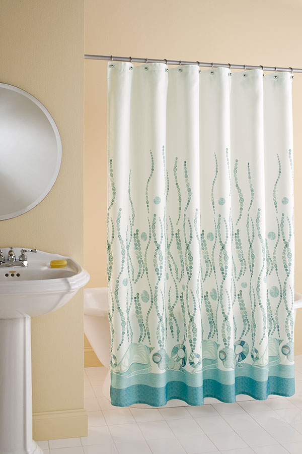 Country bathroom curtains